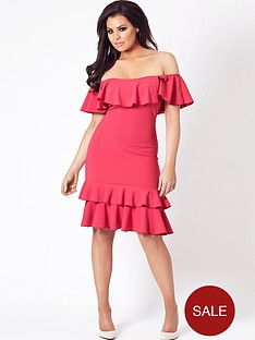 jessica-wright-frankee-bardot-frill-hem-dress-pink