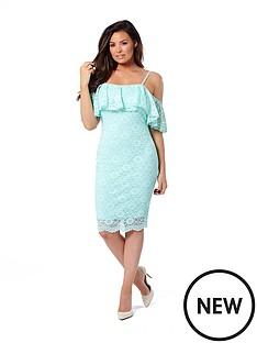 jessica-wright-ellis-cold-shoulder-lace-dress-mint