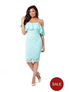jessica-wright-ellis-cold-shoulder-lace-dress-mint