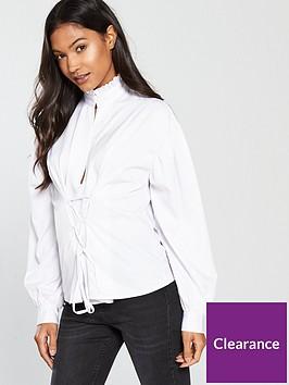 fashion-union-marikanbspruffle-neckline-white-shirt