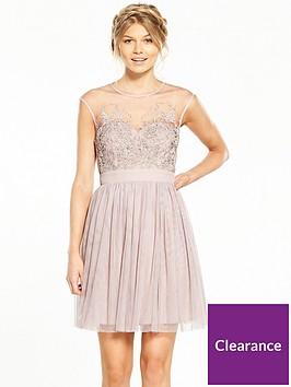 little-mistress-petite-mesh-mini-dress-mink