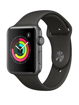 Apple Watch Series 3 Gps 42Mm Space Grey Aluminium Case With Grey Sport Band cheapest retail price