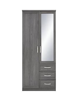 Very  Camberley 2 Door, 3 Drawer Mirrored Wardrobe