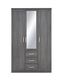 Very  Camberley 3 Door 3 Drawer Mirrored Wardrobe