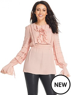 michelle-keegan-tiered-sleeve-detail-ruffle-blousenbsp