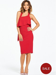 myleene-klass-pasymmetric-neck-ruffle-back-dress-redp