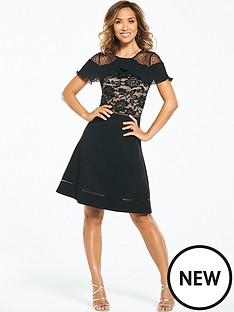 myleene-klass-lace-skater-dress-black