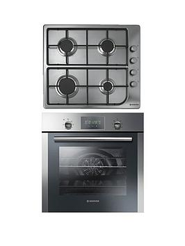 Hoover Hprgm7 60Cm Built In Electric Single Oven And Gas Hob Pack  Stainless Steel