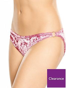 rare-crushed-velvet-ring-detail-bikini-bottom-pink