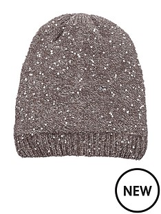 oasis-grey-sequin-knit-hat