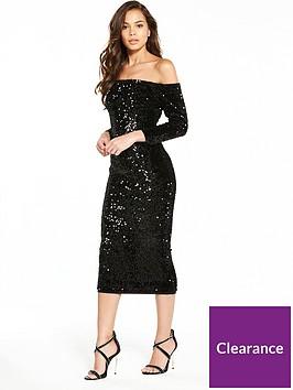 v-by-very-sequin-bardotnbspbodycon-dress