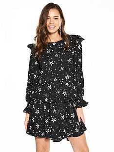v-by-very-frill-printed-flippy-hem-dress