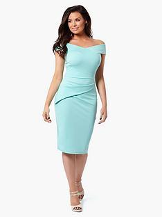 jessica-wright-vinnie-bardot-midi-dress-mint