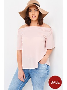 girls-on-film-curve-bardot-short-sleeved-top-dusty-pink
