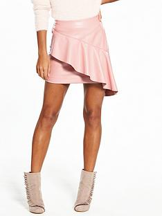 v-by-very-frill-pu-mini-skirt