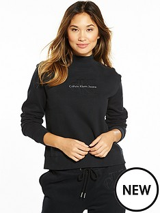 calvin-klein-jeans-hazel-true-icon-long-sleeve-sweat-top-black