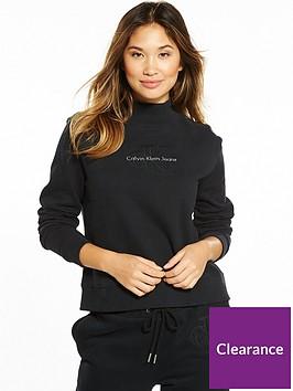 calvin-klein-jeans-hazel-true-icon-long-sleeve-sweat-top-black