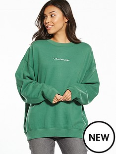 calvin-klein-jeans-hilary-hwk-long-sleeve-sweat-top-trekking-green
