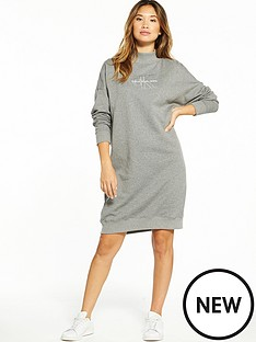 calvin-klein-jeans-denver-true-icon-long-sleeve-dress-mid-grey-heather