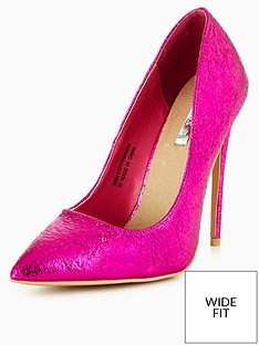lost-ink-wide-fit-abbey-textured-high-court-shoe-pink