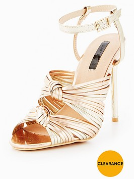 Get The Latest Fashion Knot Dancing Heeled Sandals - Rose gold Lost Ink. Free Shipping Pre Order New Styles Online H9rikB56sB