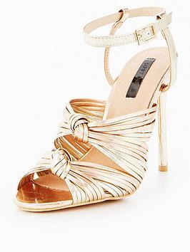 Knot Dancing Heeled Sandals - Rose gold Lost Ink.