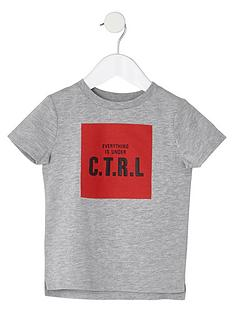 river-island-mini-boys-marl-grey-039ctrl039-print-t-shirt