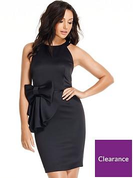 michelle-keegan-bow-front-mini-dress