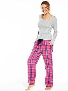 v-by-very-soft-touch-check-pj-set-with-henley-top