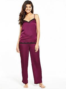 v-by-very-satin-lace-trim-pyjama