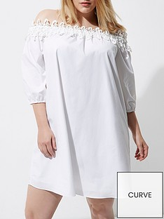 ri-plus-white-poplin-dress