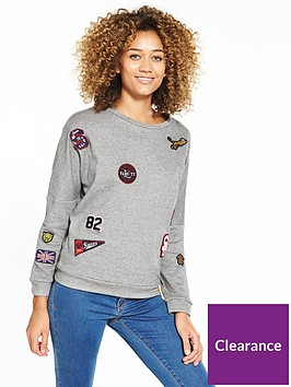 superdry-varsity-badge-crew-grey