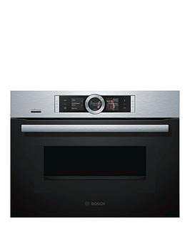 Bosch   Serie 8 Cmg656Bs6B Compact Built-In Oven With Microwave - Brushed Steel