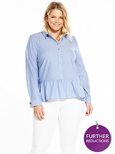 v-by-very-curve-stripe-peplum-shirt