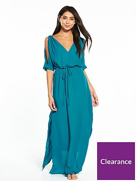 v-by-very-ring-detail-cold-shoulder-beach-maxi-dress