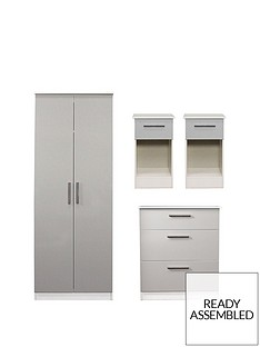 swift-montreal-gloss-4-piece-ready-assembled-package-ndash-2-door-wardrobe-3-drawer-chest-and-2-bedside-chests