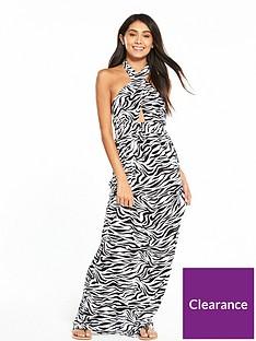 v-by-very-keyhole-halter-neck-jersey-printed-beach-maxi-dress-zebra