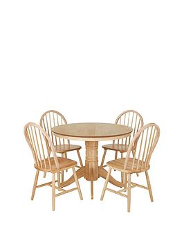 kentucky-100-cm-round-dining-table-4-chairs