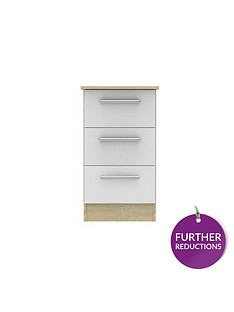 swift-montreal-gloss-ready-assembled-3-drawer-bedside-chest