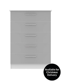 swift-montreal-gloss-ready-assembled-tall-5-drawer-chest
