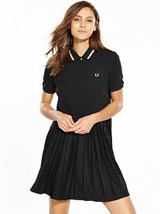 fred-perry-pleated-pique-dress