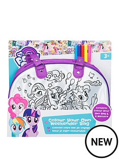 my-little-pony-my-little-pony-colour-your-own-weekender-bag