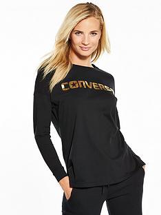 converse-metallic-wordmark-long-sleeve-tee