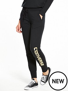 converse-metallic-wordmark-pant-black