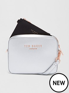 ted-baker-logo-camera-box-crossbodynbsp-silver