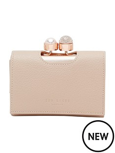 ted-baker-small-cliptop-grained-purse