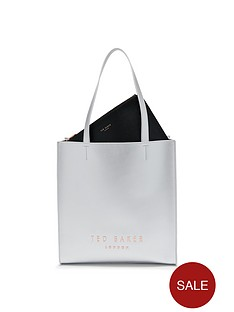 ted-baker-large-logo-shopper-silver