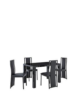 atlantic-120-cm-gloss-dining-table-4-nevada-chairs