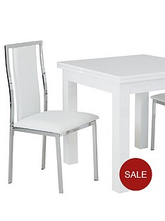 gloss-square-to-rectangle-80-160-cm-extending-dining-table-2-atlantic-chairs