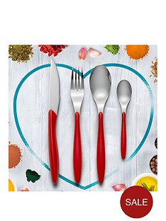 swan-oslo-24-piece-cutlery-set-red